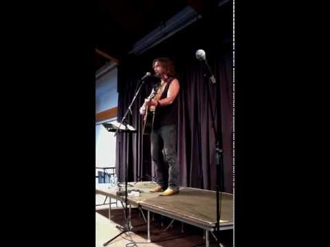"John Flynn performs ""Democracy (the Weed)"" at the One World Coffeehouse"