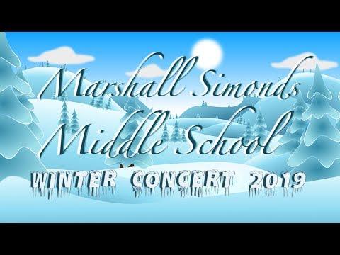 Marshall Simonds Middle School Winter Concert 2019