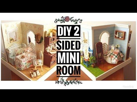 DIY 2-Sided Miniature Room (Mary's Sweet Baking)