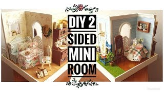 DIY 2-Sided Miniature Room (Mary's Sweet Baking)
