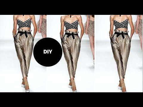 DIY I HOW TO MAKE PAPER BAG WAIST  PANTS I Beginner Sewing
