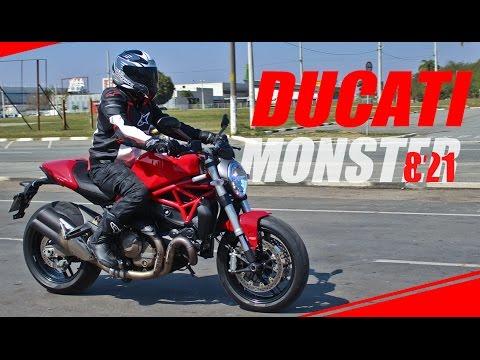 TÁ SAINDO DA JAULA O MONSTRO - Nova Ducati Monster 821