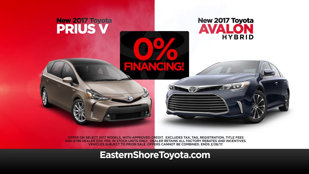 0 Financing Your Choice 2017 Prius Or Avalon Hybrid Youtube