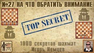 На что обратить внимание. 1000 секретов шахмат №27. Игорь Немцев. Обучение шахматам