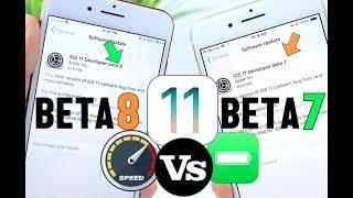 iOS 11 Beta 8 Vs Beta 7 Battery & Performance TEST