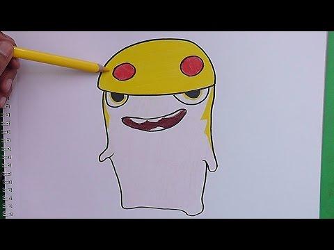 Dibujando y coloreando a Demoledora (Bajoterra)  Drawing and coloring Demoledora
