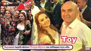 """""""Keyxanım""""ın toyundan ilk görüntülər - Toyda Elzanın saç düzümü diqqət çəkdi"""