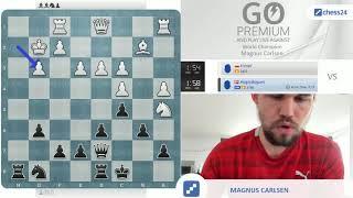 """Sorry dude, I'm not that slow, nor that weak!"" | Magnus Carlsen vs. chess24 user kleopl"