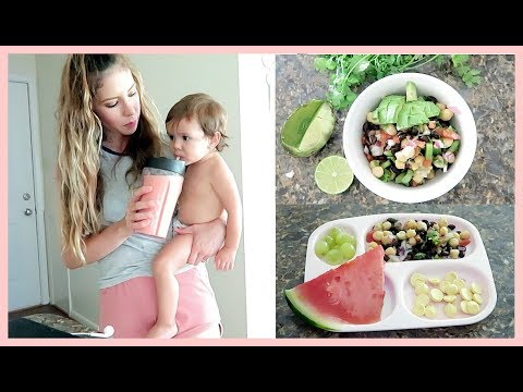 WHAT I EAT IN A DAY AS A VEGAN BREASTFEEDING MOM & TODDLER