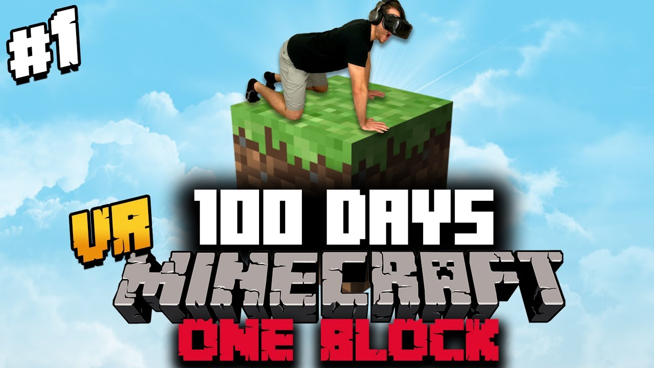 I Spent 100 Days in ONE BLOCK Minecraft VR and Heres What Happened