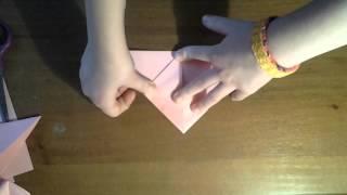 Как сделать оригаме тюльпан из бумаги урок 2