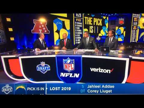 The Los Angeles chargers 1st round selection reaction