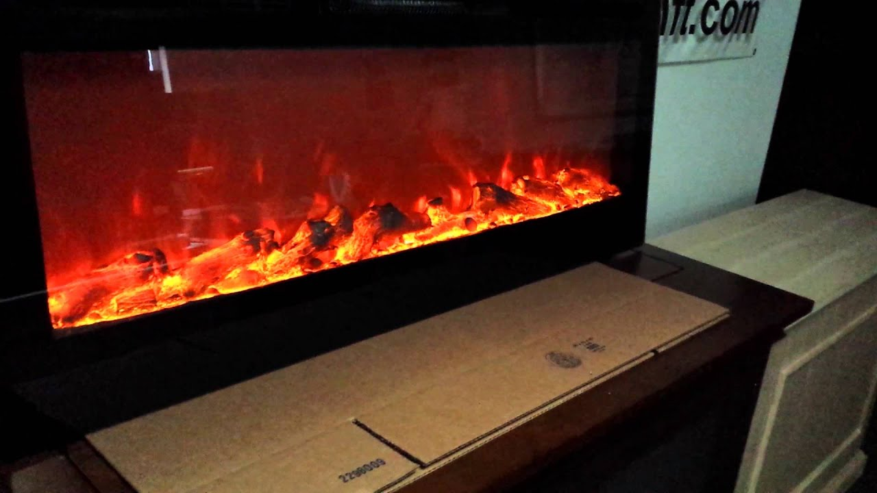 Touchstone's 80004 Sideline Electric Fireplace - YouTube