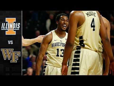 Illinois vs. Wake Forest Basketball Highlights (2017-18)