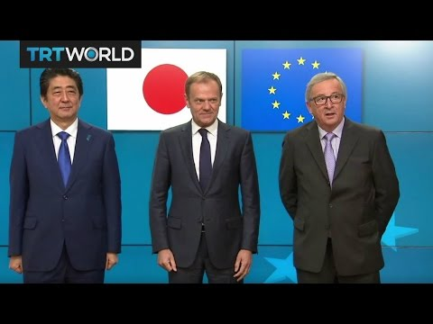 Money Talks: Japanese PM pushes EU trade deal
