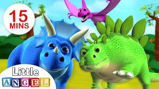 We are the Dinosaurs | Dinosaur Song | Kids Songs & Nursery Rhymes by Little Angel thumbnail