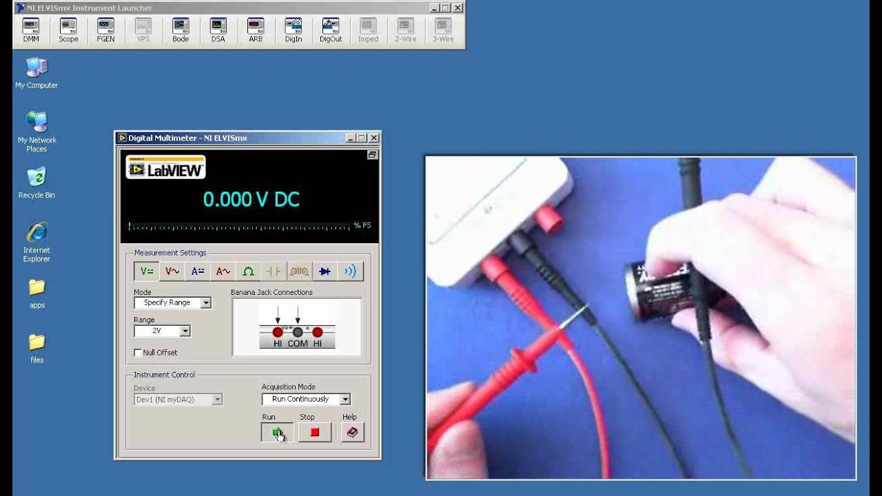 Ni Mydaq Check Voltmeter Operation Youtube Texas Instruments Circuit Experiments For Experiment 1