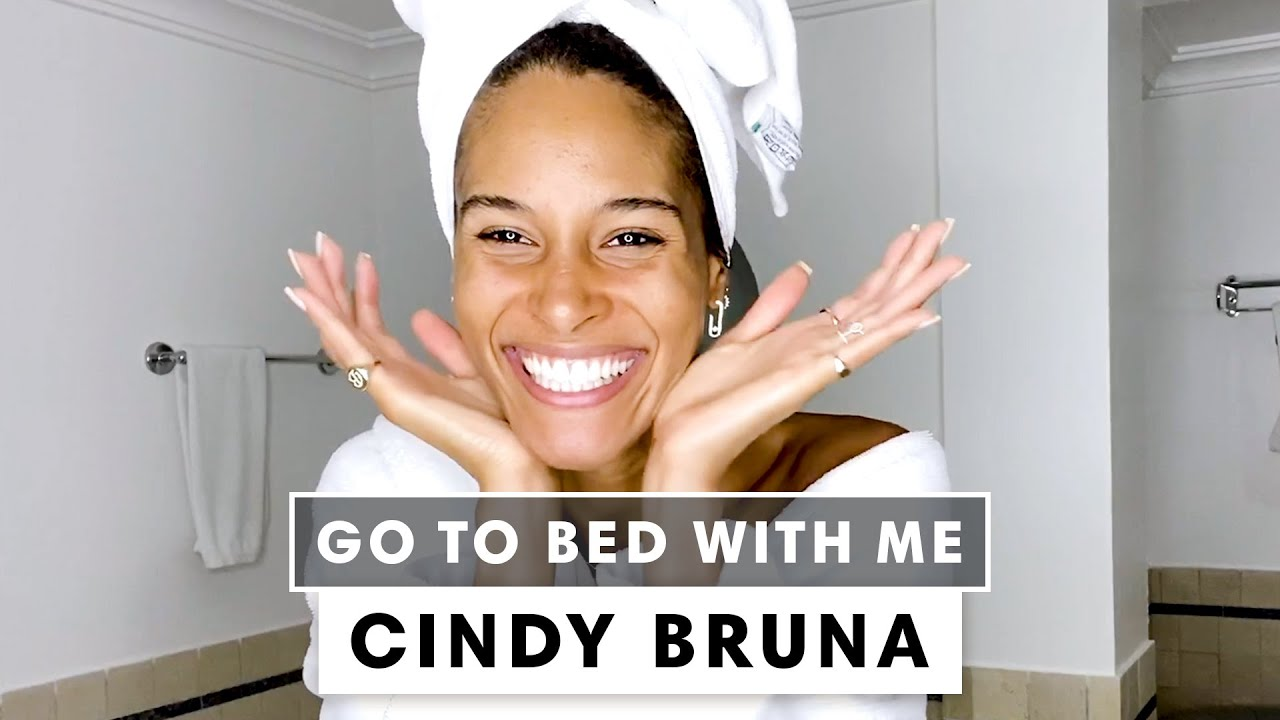 French Model Cindy Bruna's Nighttime Skincare Routine | Go To Bed With Me | Harper's BAZAAR