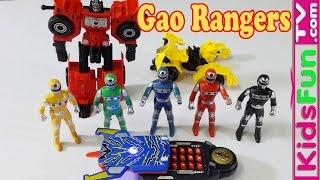 Đồ chơi triệu hồi 5 anh em siêu nhân Gao và học màu sắc cho bé - MegaFone Rangers Gao