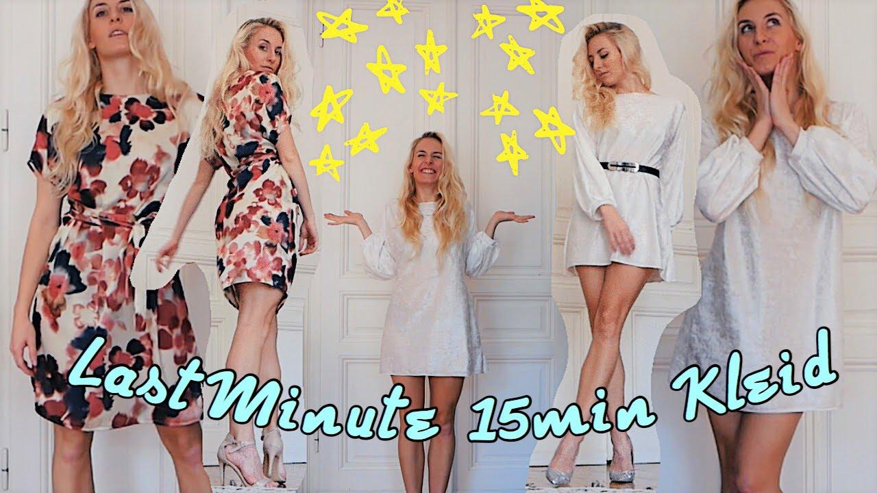 Kleid Nahen In Nur 15 Minuten Ohne Schnittmuster Last Minute Outfit Fur Anfanger 2 Varianten Youtube