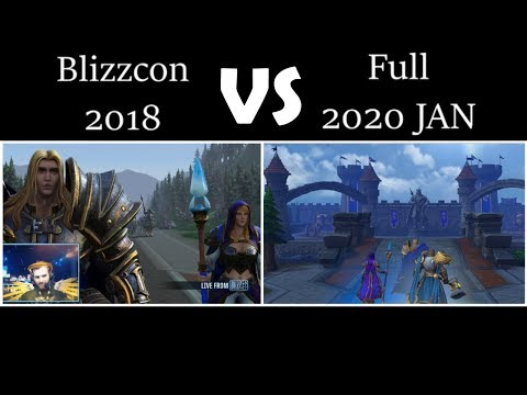 Warcraft 3 Reforged (Blizzcon 2018 VS Full 2020) Cutscene Only