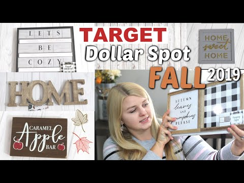 TARGET DOLLAR SPOT FALL 2019 | Target Haul Fall Decor | Krafts by Katelyn