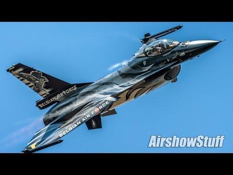 """""""Dark Falcon"""" Belgian Air Force F-16 Demo - RIAT 2018"""