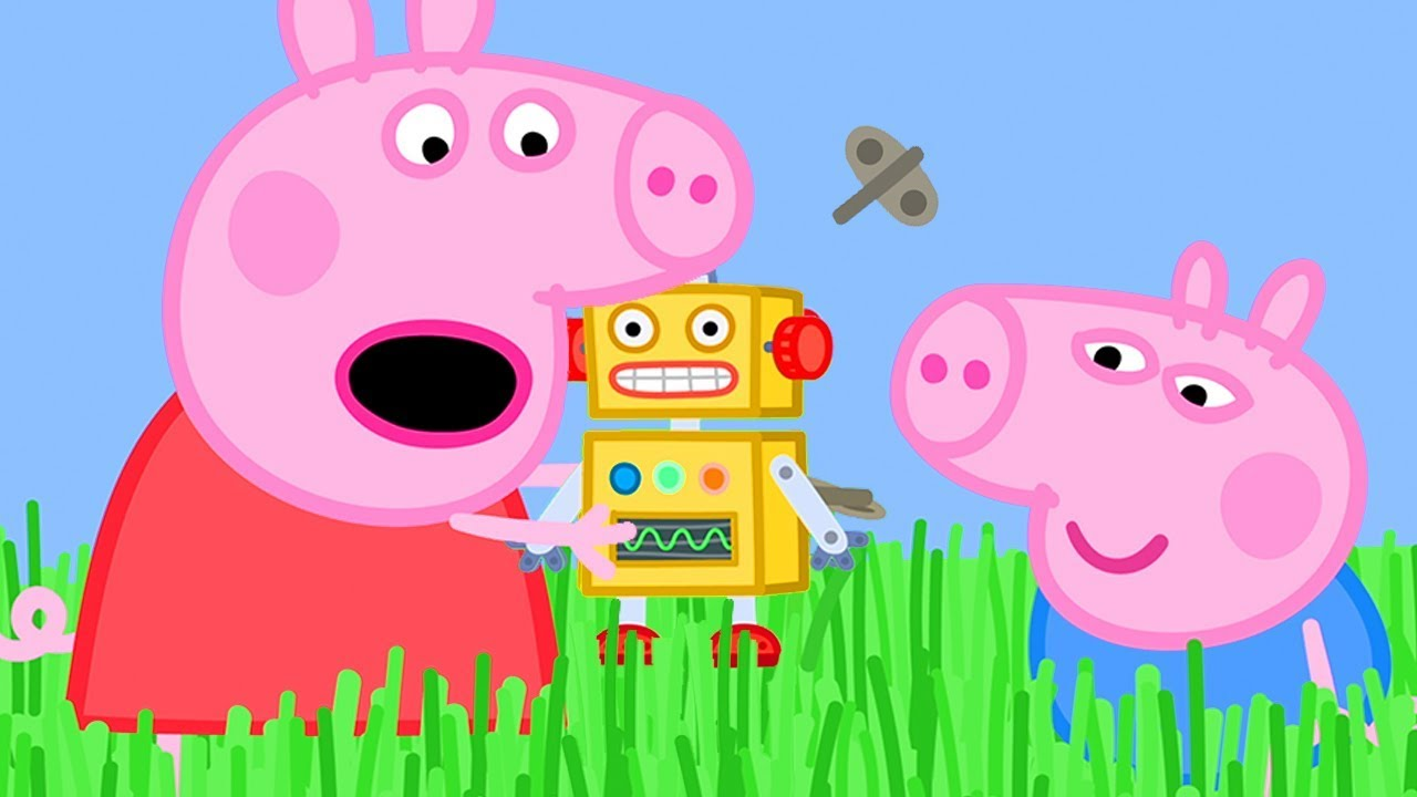 Peppa Pig Official Channel  ❤️New Season ❤️ Long Grass is Stopping Peppa Pig's Robot from Walki