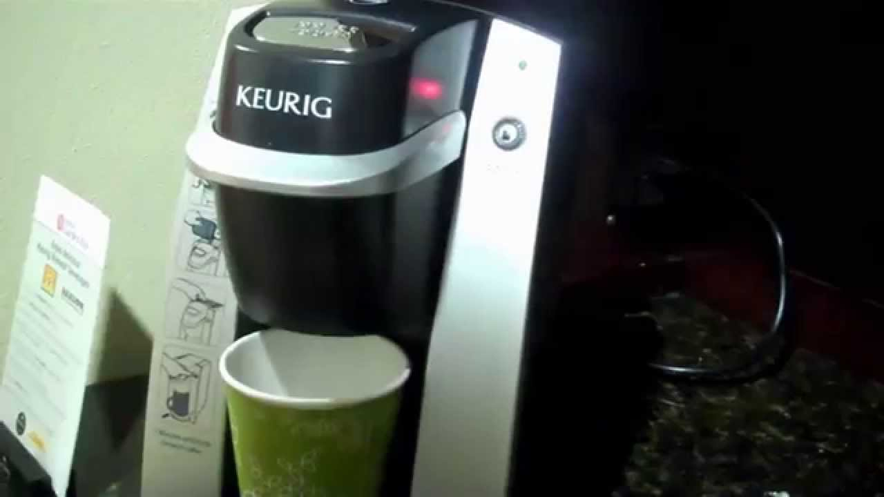 Keurig Coffee Maker Quit Working No Power : Hilton Garden Inn s Grill and A Keurig Coffee Maker Demo - YouTube