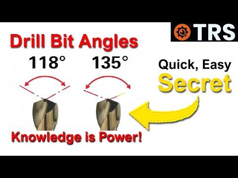 Drill bit angles