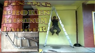 DIY How to Fİx 20 Steps Aluminum Ladder Worth 5k for Construction DAY 30