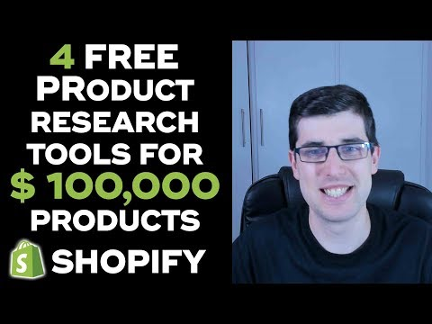 [UPDATED] FIND $100,000 PRODUCTS 2019 | 4 FREE NEW PRODUCT RESEARCH METHODS  | SHOPIFY DROPSHIPPING thumbnail