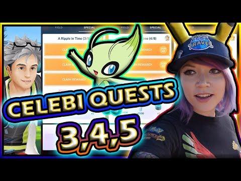 CELEBI QUEST TIERS 3, 4, & 5 IN POKEMON GO! thumbnail