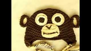 Ape monkey the pinna ear lobe - small baby crochet hat