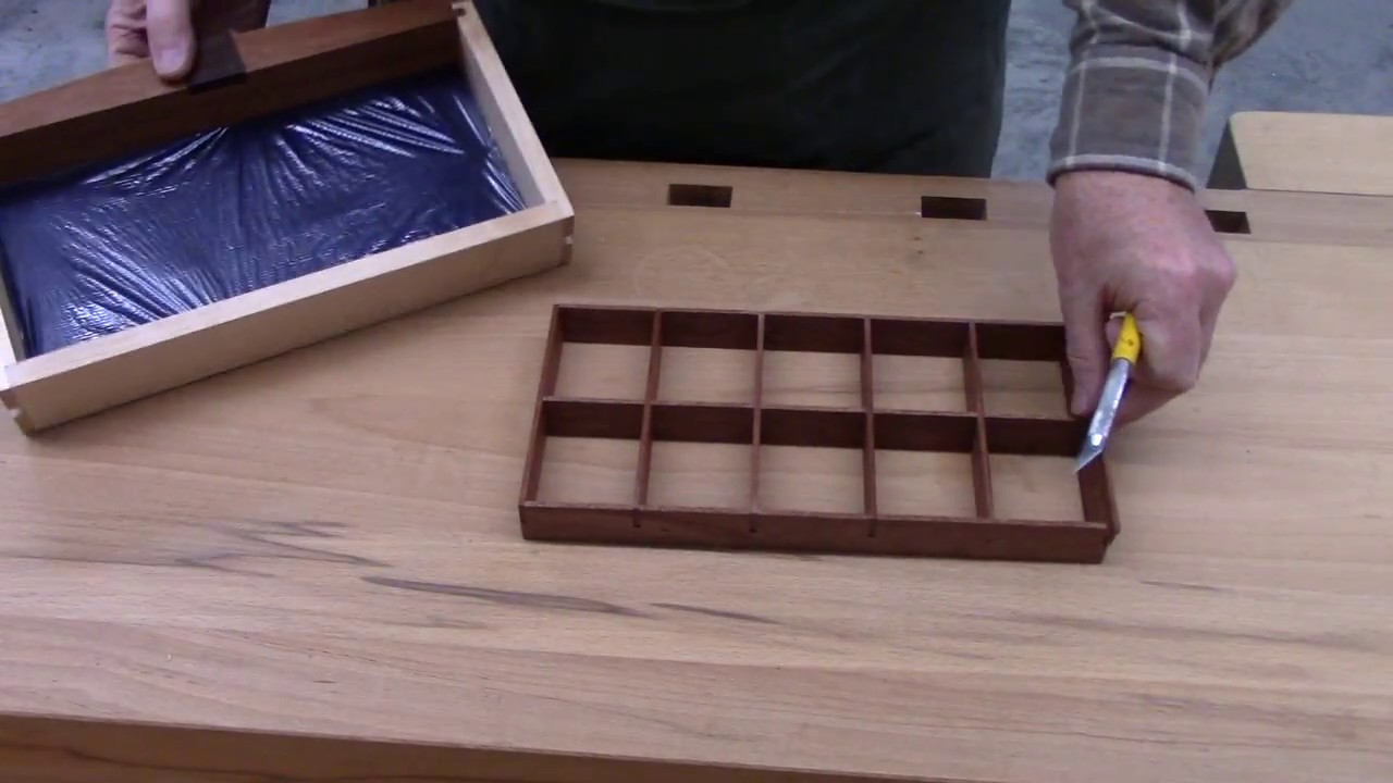 making jewelry box drawer dividers youtube. Black Bedroom Furniture Sets. Home Design Ideas