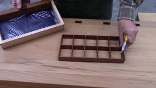 This video demonstrates how to make the drawer dividers for the Bowfront Jewelry Box.