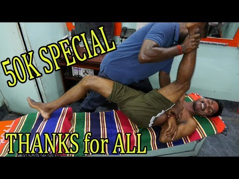50K SPECIAL VIDEO ~  FULL BODY OIL MASSAGE | ASMR + Raja Master~Very Interesting,,