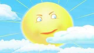 Солнышко разгоняет тучки (детский мультик)