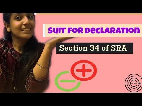 Section 34 SRA    TUTORIAL   SUIT FOR DECLARATION    2019