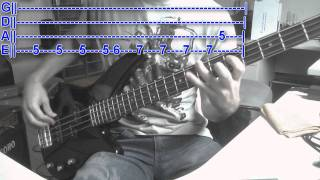 FRANZ FERDINAND - Take Me Out (Bass Cover with TABS)