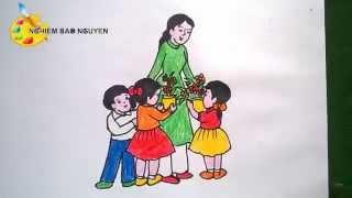 Vẽ tranh Ngày Nhà giáo Việt Nam 20-11/ How to Draw Teacher