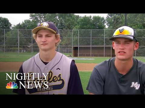 After Winning High School Baseball Game, Player Hugs Friend On Opposing Team | NBC Nightly News