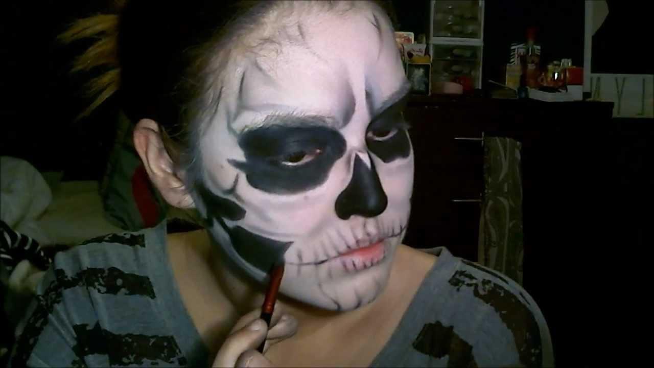 Fashion week Gaga lady inspired halloween skull makeup tutorial for girls