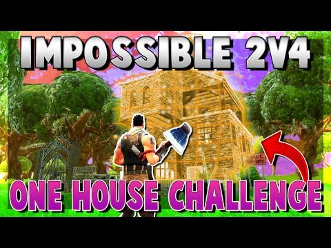 IMPOSSIBLE Duos vs Squads ONE HOUSE Challenge (Fortnite Battle Royale)
