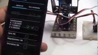 Bluetooth-controlled Pan/Tilt Servo Platform Using Android (SensoDuino) & Arduino