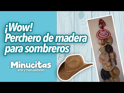 Perchero de madera para sombreros f cil y r pido youtube for Como hacer un perchero de pared