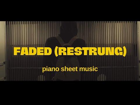FADED (restrung) Alan Walker - FREE piano sheet - YouTube