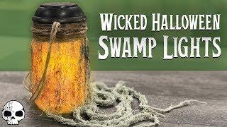 DIY Halloween Props - Mason Jar Hanging Lights (Solar Powered!)