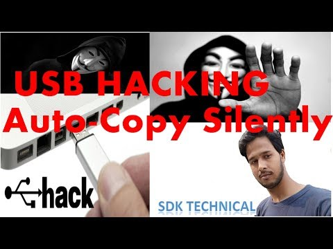 USB HACKING Auto-Copy Pendrive DVD Disk Files silently without notifications HINDI