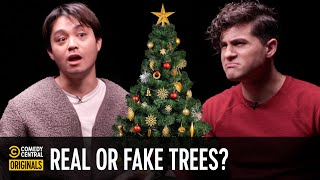 Real or Fake Christmas Trees: What's Better? (ft. @AnthonyPadilla) - Agree to Disagree